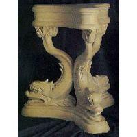 Dolphin Table 29in. - Fiberglass - Indoor/Outdoor Garden Statue