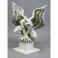 Draga Gargoyle 20in. Fiberglass Indoor/Outdoor Statue/Sculpture