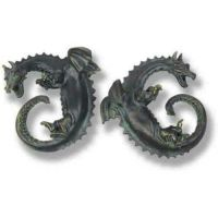 Dragon Ring Set - Fiberglass - Indoor/Outdoor Statue/Sculpture