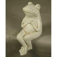 Drama Frog 8in. - Fiberglass Resin - Indoor/Outdoor Statue/Sculpture