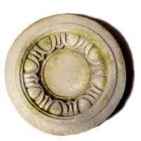 Egg And Dart Medallion - Fiber Stone Resin - Indoor/Outdoor Statue