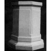 Eight Sided Riser Stand Pedestal Statue Base 30in. Fiberglass Statue