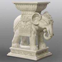 Elephant Indian Riser Stand Pedestal Statue Base 18in. - Fiberglass