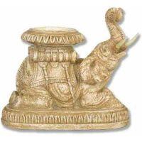 Elephant Roaring Candleholder - Fiberglass - Outdoor Statue