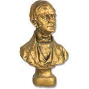 Emerson Bust Small 14in. High - Fiberglass - Outdoor Statue