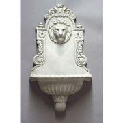 English Lion Wall Fountain Fiberglass Outdoor Wall Mount Statue