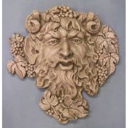 Epic Wall Bacchus 19in. - Fiberglass Resin - Indoor/Outdoor Statue