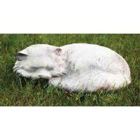 Fat Cat 11in. Wide - Fiber Stone Resin - Indoor/Outdoor Garden Statue