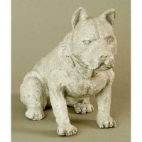 Fido 8in. - Fiber Stone Resin - Indoor/Outdoor Garden Statue/Sculpture