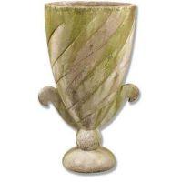 Flat Spiral Urn 35in. Fiber Stone Resin Indoor/Outdoor Garden Statue