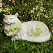 Fluffy Cat - Fiber Stone Resin - Indoor/Outdoor Statue/Sculpture