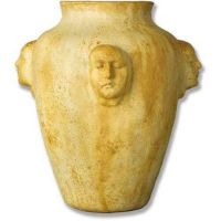 Four Face Pot 21in. High - Fiber Stone Resin - Indoor/Outdoor Statue