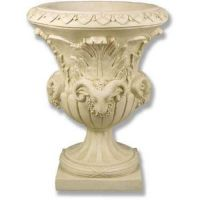 Four Headed Ram Pot - Fiberglass - Indoor/Outdoor Garden Statue