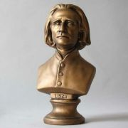 Franz Liszt Bust Small 11in. High - Fiberglass - Outdoor Statue
