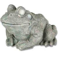 Frog Large 10in. - Fiberglass Resin - Indoor/Outdoor Statue/Sculpture