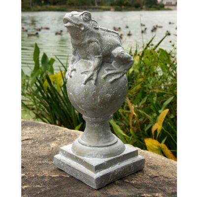 Frog On Finial - Fiber Stone Resin - Indoor/Outdoor Statue/Sculpture -  - FS8637