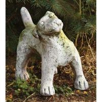 Garden Puppy 9in. - Fiber Stone Resin - Indoor/Outdoor Garden Statue