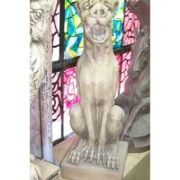 Gargoyle Dog Rainspout Standing - Fiberglass - Outdoor Statue