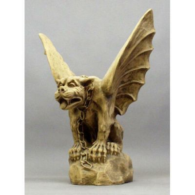 Gargoyle Of Turin Chained w/Wings 32in. Fiberglass Outdoor Statue -  - F69035