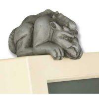 Gaston Guard Dog Gargoyle Com - Fiberglass - Outdoor Statue