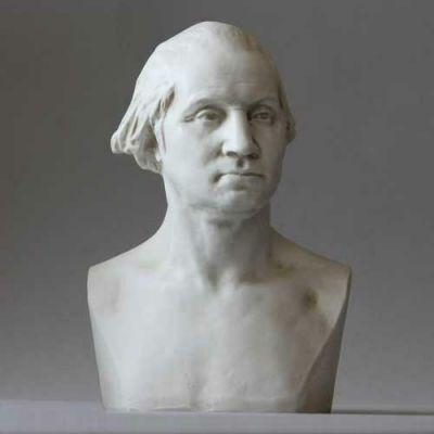 George Washington Bust By Houdon 9in. - Fiberglass - Outdoor Statue -  - F8417
