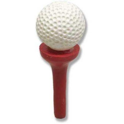 Golf Ball On Tee 8in. - Fiberglass - Indoor/Outdoor Statue -  - F6834