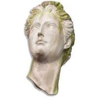 Greek Head Remnant 21in. - Fiber Stone Resin - Indoor/Outdoor Statue