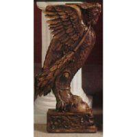 Griffin Stand 29in. - Fiberglass - Indoor/Outdoor Garden Statue