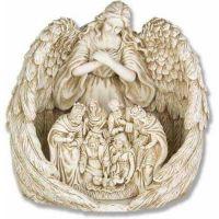 Guardian Angel Nativity 20in. Fiberglass Resin Indoor/Outdoor Statue