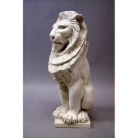 Guardian Lion 13 In. Fiberglass - Indoor/Outdoor Garden Statue