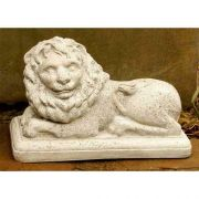 Hallie Lion Left 7.5in. - Fiber Stone Resin - Indoor/Outdoor Statue