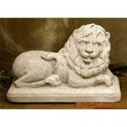 Hallie Lion Right 7.5in. - Fiber Stone Resin - Indoor/Outdoor Statue