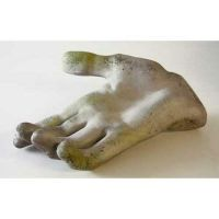 Hand 15in. Wide - Fiber Stone Resin - Indoor/Outdoor Statue
