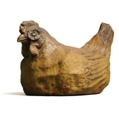 Hen 7in. - Fiber Stone Resin - Indoor/Outdoor Garden Statue/Sculpture -  - FS8586