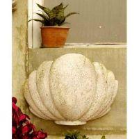 Herley Shell Sconce 12in. - Fiber Stone Resin - Indoor/Outdoor Statue