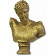 Hermes Bust 13in. High - Fiberglass - Indoor/Outdoor Statue
