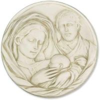 Holy Family Plaque 10in. Fiberglass Indoor/Outdoor Garden