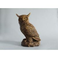 Hoot Owl Fiber Stone Resin Indoor/Outdoor Garden Statue/Sculpture