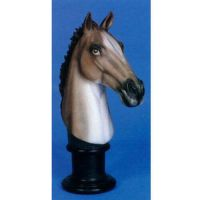 Horse Head Realistic Fiberglass Resin - Indoor/Outdoor Garden Statue