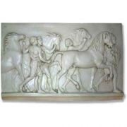 Horse Tenders Slab VII 24in. - Fiberglass - Outdoor Statue