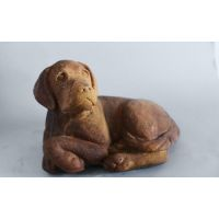 Hunter Pup Fiber Stone Resin Indoor/Outdoor Garden Statue/Sculpture