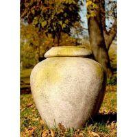 Jar 24 Inch Fiber Stone Resin Indoor/Outdoor Garden Statue/Sculpture