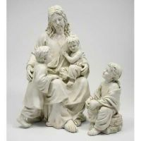 Jesus w/Children 34in. - Fiberglass - Indoor/Outdoor Statue