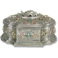 Jewelry Case 6.0w 7.0d 4.0in. H, Fiberglass Finish As Shown