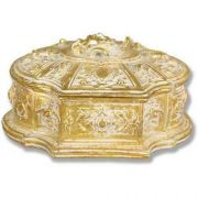 Jewelry Case 6.0w 7.0d 4.0in. H, Fiberglass Golden Highlights