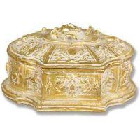Jewelry Case 6.0w 7.0d 4.0in. H, Fiberglass Golden Highlights