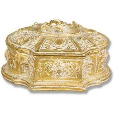 Jewelry Case 6.0w 7.0d 4.0in. H, Fiberglass Golden Highlights -  - F7669