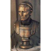Julius Caesar 25in. - Fiberglass Resin - Indoor/Outdoor Garden Statue