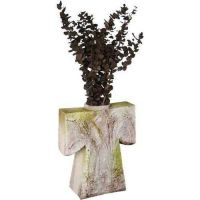 Kimono Urn 17 Inch Fiber Stone Resin Indoor/Outdoor Statue/Sculpture