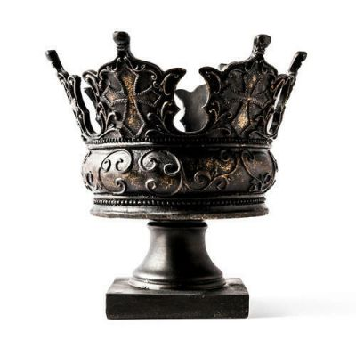 King Crown - Fiberglass - Indoor/Outdoor Garden Statue/Sculpture -  - F8876